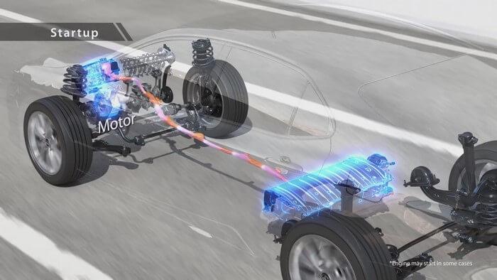 Khi xe ô tô Hybrid khởi động
