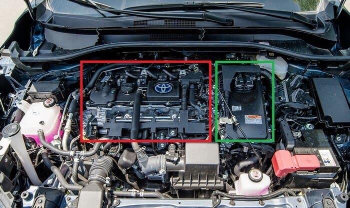 Khoang động cơ xe hơi Hybrid